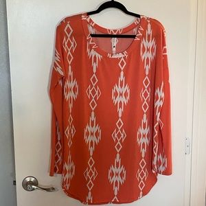 Coral Tribal Tunic